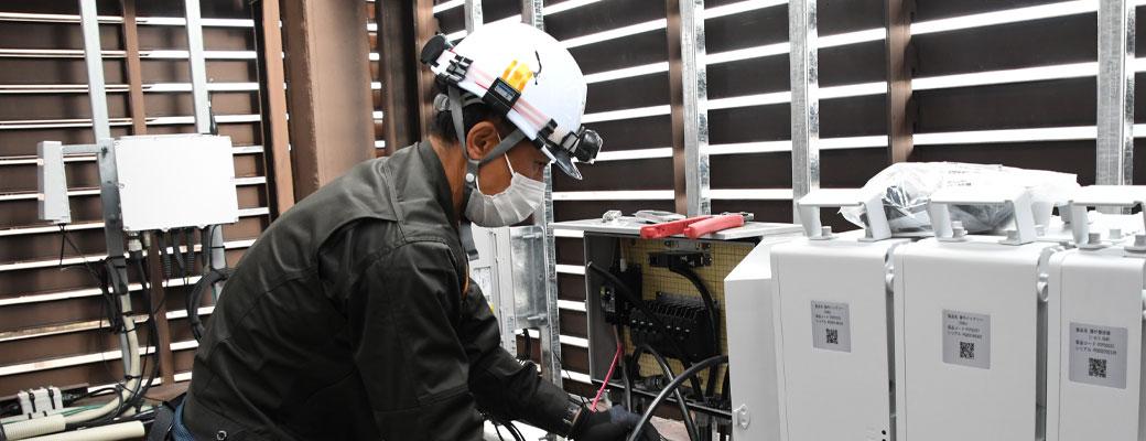 スマホの通話・通信を支える電気通信工事を行う会社